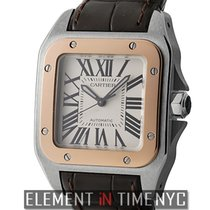 Cartier Santos Collection Santos 100 Midsize 36mm Steel &...