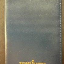 Ulysse Nardin genuine veal leather wallet, dark blue, new