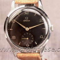 Omega Large 37,4 Mm Vintage 1940`s Ref. 2609 Steel Watch Cal....