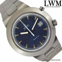 Omega Chronostop 146.012 Jumbo blue dial 1970