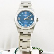 Rolex Oyster Perpetual Lady 177200 Blue Roman Dial Box &...