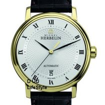 Michel Herbelin Classic Automatik Herrenuhr mit Lederband und...
