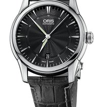 Oris Artelier Date Black Dial Black Crocodile Leather