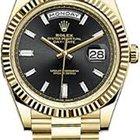 Rolex 18KT Yellow Gold Day Date 40m B;ack Diamond