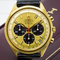 Zenith G582 Vintage El Primero 18K Yellow Gold Panda Dial (21964)