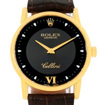 Rolex Cellini Classic 18k Yellow Gold Black Dial Watch 5116