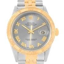 Rolex Thunderbird Turnograph Mens Steel 18k Yellow Gold Watch...