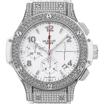 Hublot Big Bang Chronograph Stahl White Kautschuk Diamond 41mm