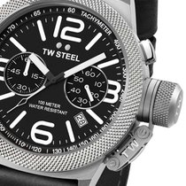 TW Steel CS3 Canteen Leather Chronograph 45mm 10ATM