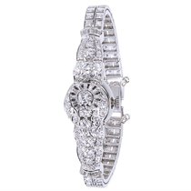 Hamilton Vintage Diamond Women's Dress Watch in 14KT White...