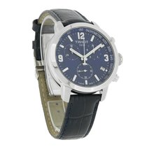 Tissot Prc 200 Mens Blue Leather Chronograph Watch T055.417.16...