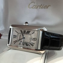 Cartier Tank Americaine Large White Gold 18 kt / 45 x 26mm...