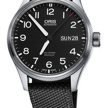 Oris Big Crown ProPilot Day Date, Black Textile Bracelet