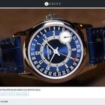 Patek Philippe [NEW] 6000G-012 White Gold Calatrava Blue Dial