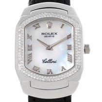 Rolex Cellini Cellissima White Gold Diamond Ladies Watch 6691...
