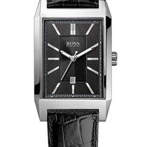Hugo Boss 1512915 elegante eckige Herrenuhr in schwarz 33 mm
