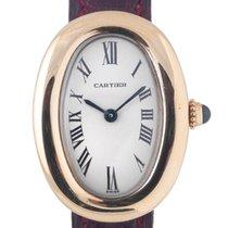 Cartier Baignoire. A lady's 18K gold quartz oval