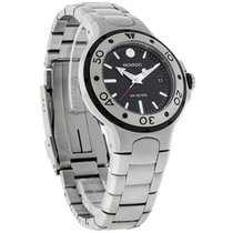 Movado Series 800 Mid-Size Mens Black Dial Swiss Quartz Watch...