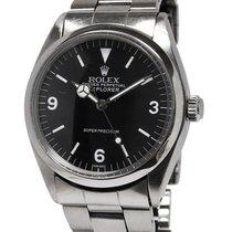 Rolex Explorer - Oyster Bracelet - Black Gilt Dial