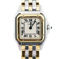 Cartier Panther Stainless Steel and 18K  Gold Ladies Watch
