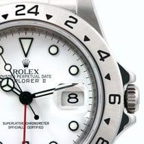 Rolex 2008 SS 40mm Explorer ll White Dial Bezel Engraved 3186...