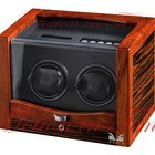 Volta Rustic Collection Double Watch Winder - Ebony/Rosewood...