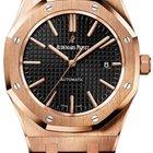 Audemars Piguet Royal Oak Automatic 41mm Black Dial Leather Strap