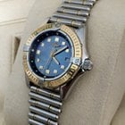 Breitling Callistino Roulleauxband Gold Steel Blue Pearl Dial...