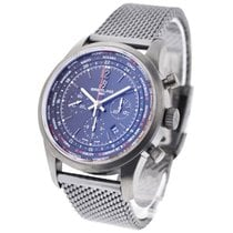 Breitling Transocean Chronograph Unitime Automatic in Black Steel