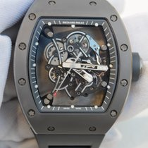 Richard Mille RM055 in titanium with black rubber strap