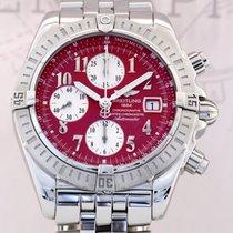 Breitling Chronomat Evolution Sportler red dial B+P Steel...