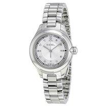 Ebel Onde Silver Diamond DIal Stainless Steel Ladies Watch