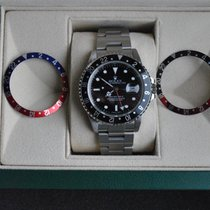 Rolex [SERVICED] GMT Master II 16710 Pepsi/Coke - B+P - 2004