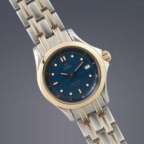 Omega Ladies Seamaster 120M steel & gold quartz Full Set