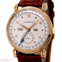 Movado Vintage Calendar Gentlemans Watch Ref-4820 18k Rose...
