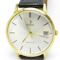 Omega Vintage Mechanical Movement Gents 18k. Yellow Gold Watch...