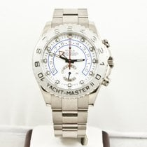 Rolex 44mm 18k White Gold Yachtmaster II 116689
