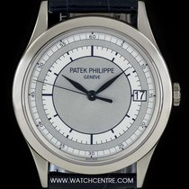 Patek Philippe 18k W/G Two Tone Silvery-Grey Dial Calatrava...
