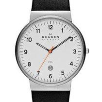 Skagen Klassik Mens Three Hand Date Watch - White Dial - Black...