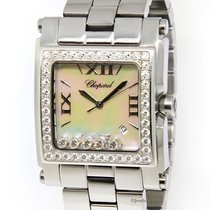 Chopard Happy Sport Square XL Stainless Steel MOP Diamond...
