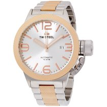 TW Steel Canteen Collection Men's Silver & Rose Gold...