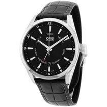 Oris Artix Black Dial Leather Strap Men's Watch 75576914054ls