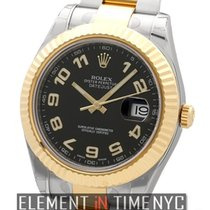 Rolex Datejust II Steel & Gold 41mm Black Arabic Dial Ref....