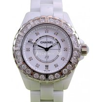 Chanel J12 H2430 Ladies 38mm White Ceramic Diamond Bezel Dial...