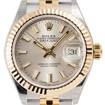 Rolex Lady-Datejust 28mm Silver/Index Jubilee 279173
