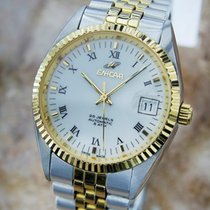 Enicar Rare Swiss Made Automatic Mens Stainless Steel Gold...