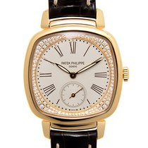 Patek Philippe New  Gondolo 18k Pink Gold Silver Manual Wind...