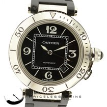 Cartier Pasha Seatimer Automatic Black Rubber & Stainless...