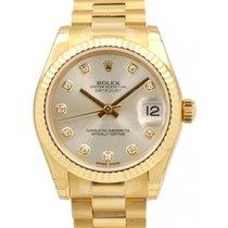 Rolex Datejust Ladies Midsize 178278 Silver Diamond Yellow...