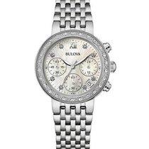 Bulova Ladies Diamonds Maiden Lane Chronograph - Mother of...